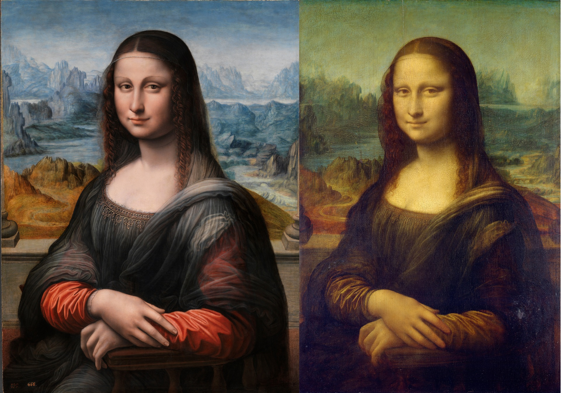 Mona Lisa side-by-side